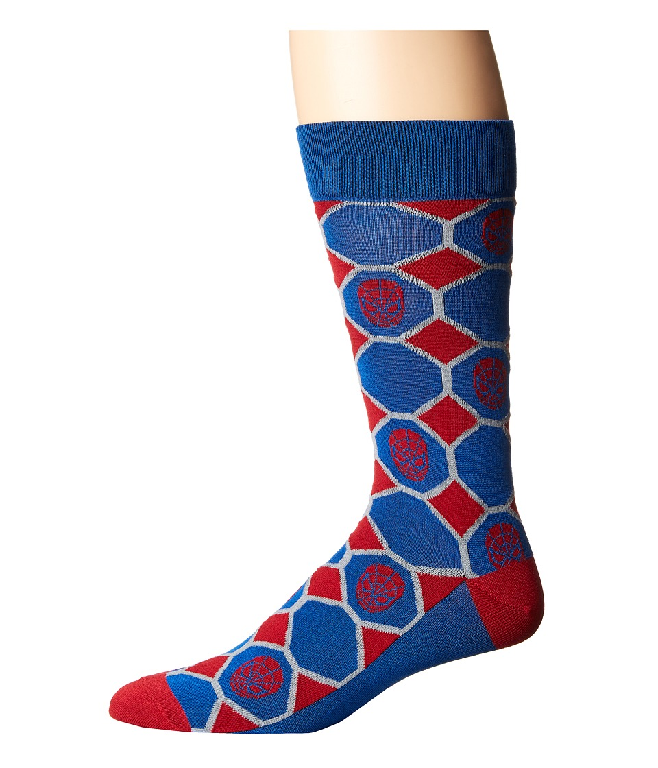 Cufflinks Inc. - Spiderman Blue Checker Socks (Multi) Cre...
