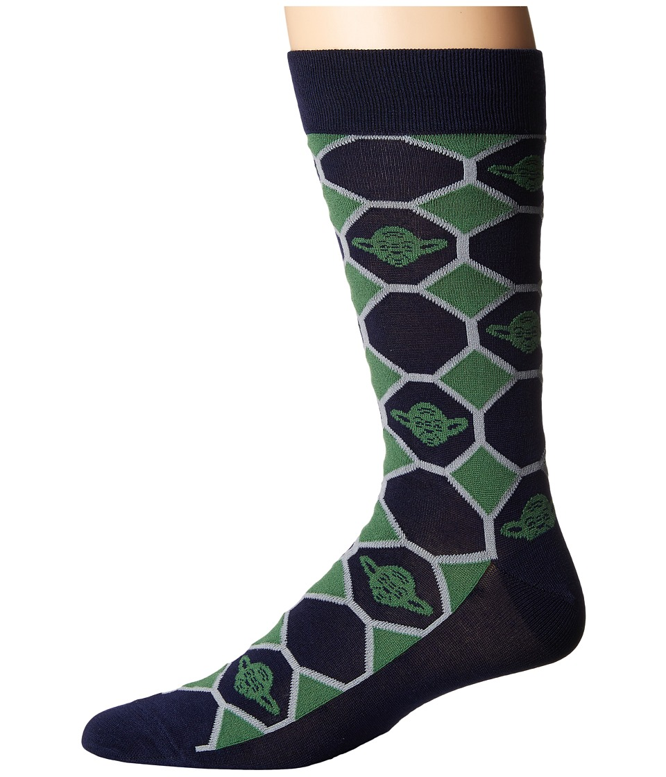 Cufflinks Inc. - Yoda Navy Checker Socks (Multi) Crew Cut...