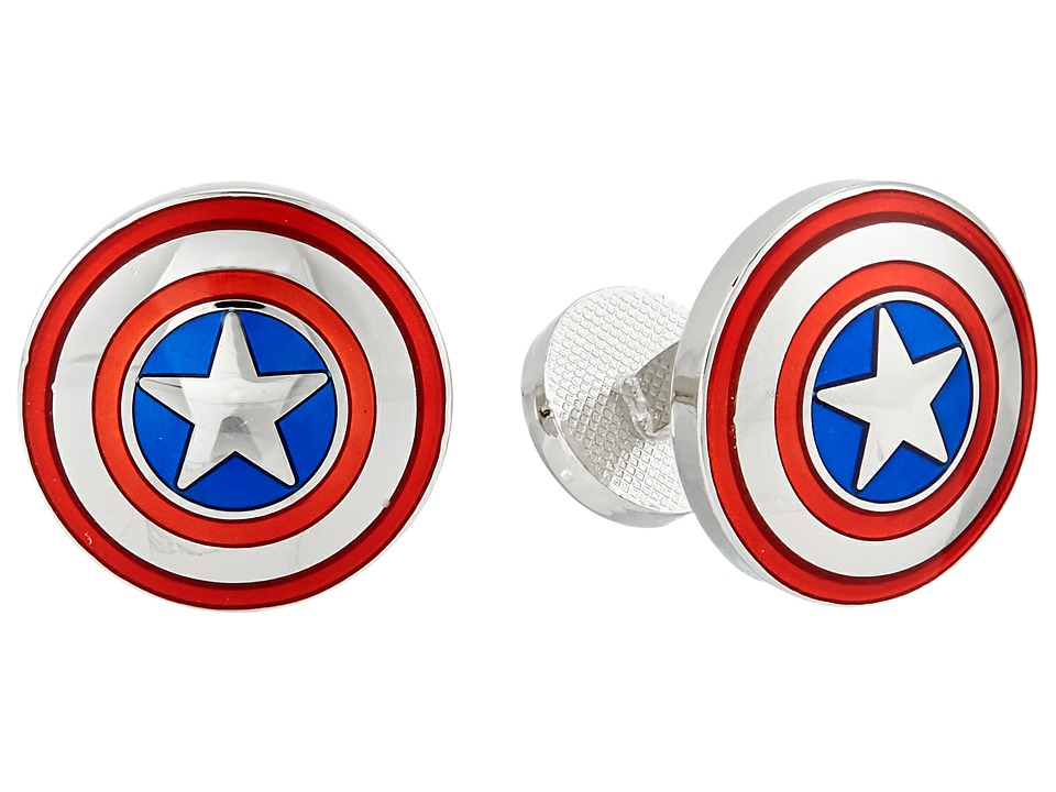 Cufflinks Inc. - Avengers Captain America Shield Cufflinks (Multi) Cuff Links