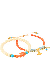 Chan Luu - Set Of 2 - Pull Tie and Stretchy Semi-Precious Stone Bracelets