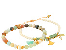 Chan Luu - Set Of 2 - Pull Tie and Stretchy Semi-Precious Stone Bracelets