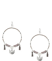 Chan Luu - Beaded Hoop Statement Earrings