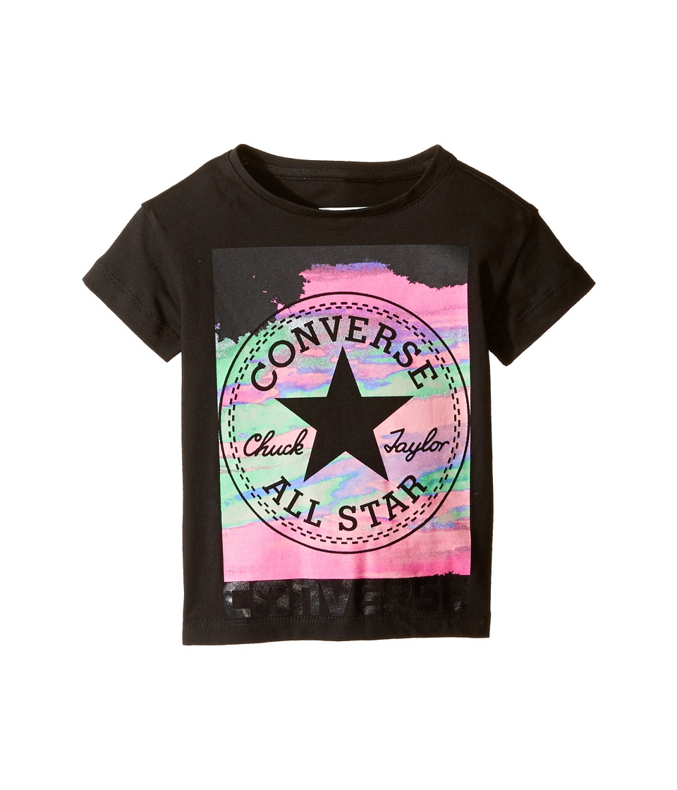 Converse Kids In the Clouds Tee (Toddler/Little Kids) (Black) Girl