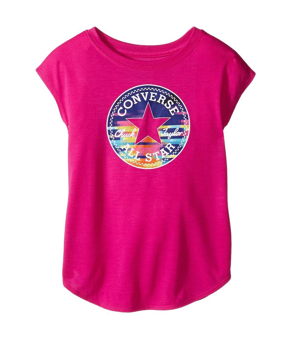 Converse Kids Printed Chuck Patch Tee (Toddler/Little Kids) (Magenta Glow) Girl