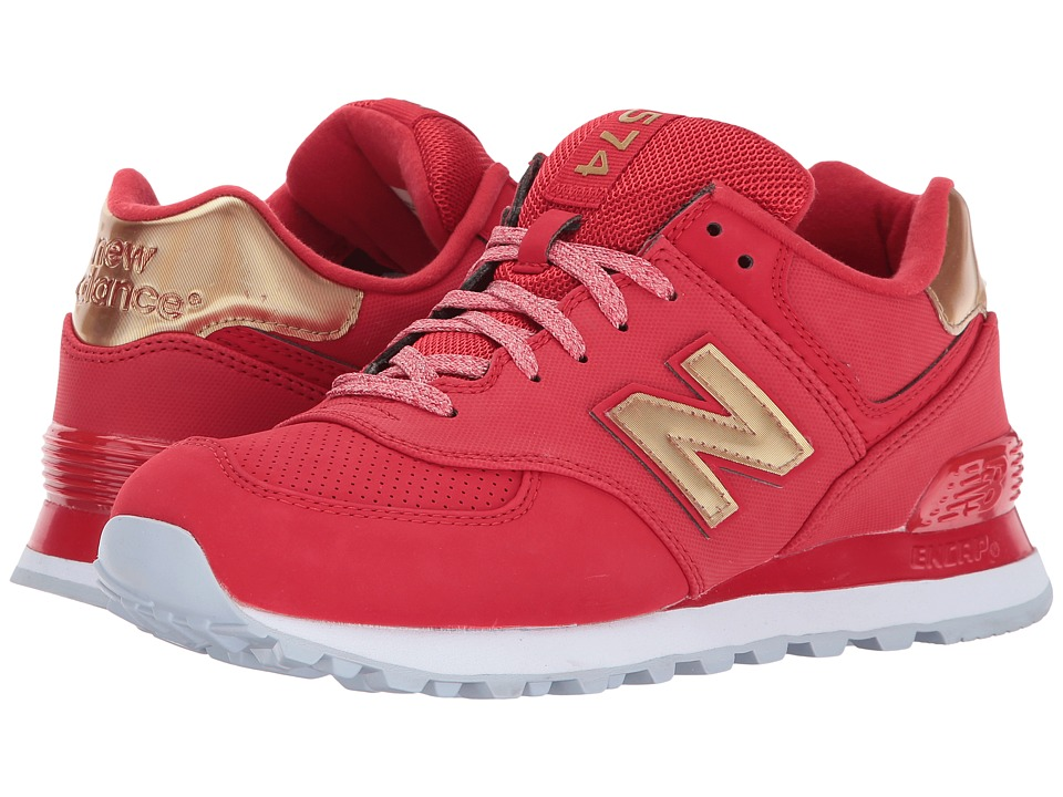 New Balance Classics WL574 (Team Red/Metallic Gold) Women