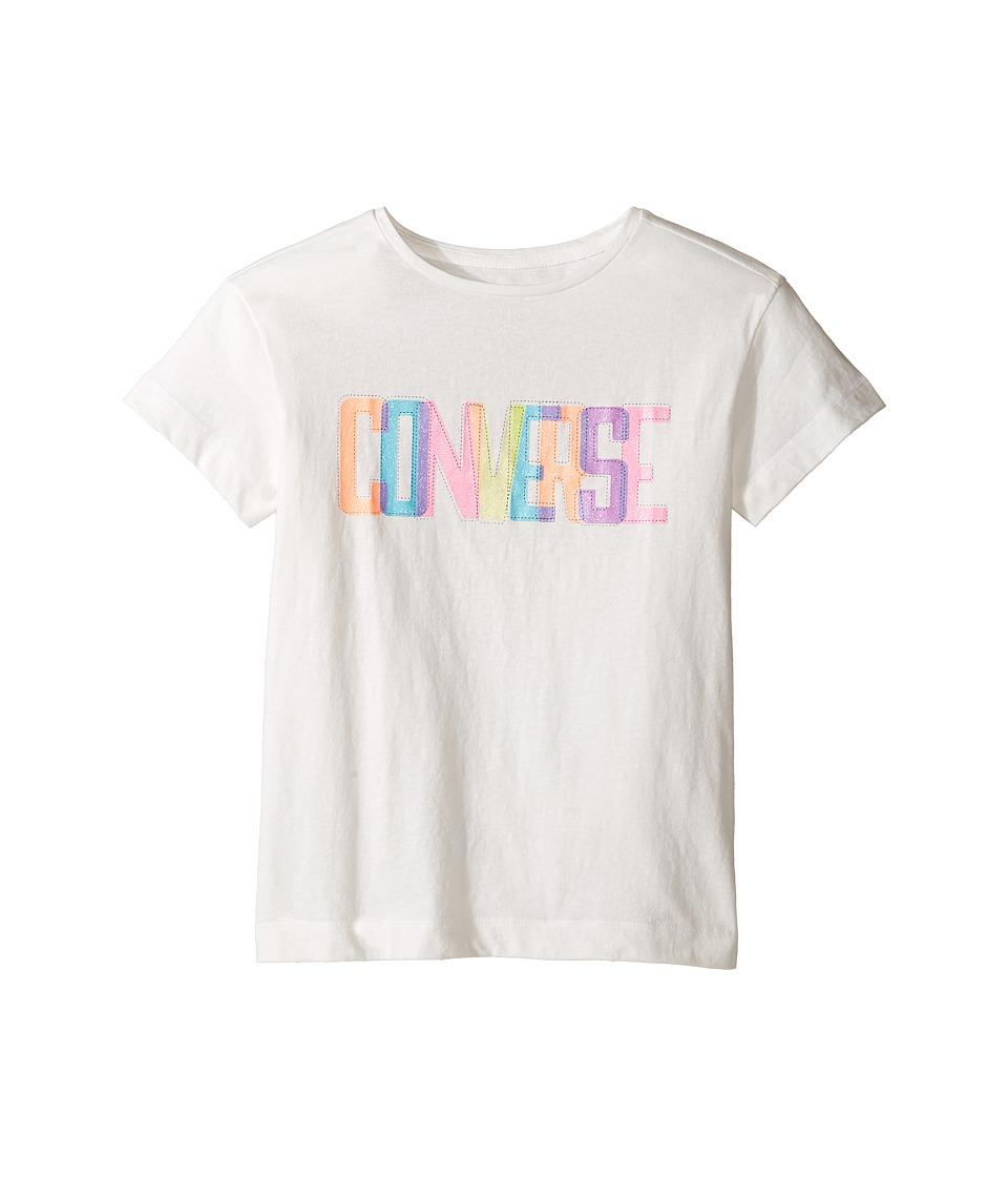 Converse Kids Neon Lights Boxy Tee (Big Kids) (White Snow Yarn) Girl