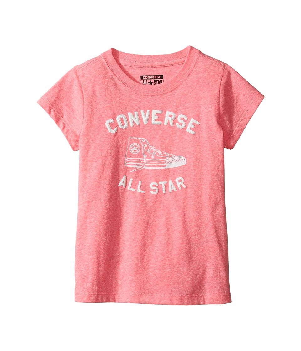 Converse Kids Varsity All Star Tee (Toddler/Little Kids) (Neo Pink Snow Heather) Girl