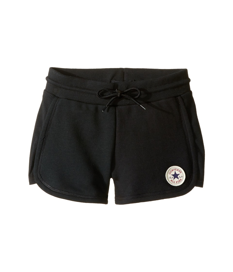 Converse Kids - CTP Rib Panel Shorts (Big Kids) (Black) Girls Shorts