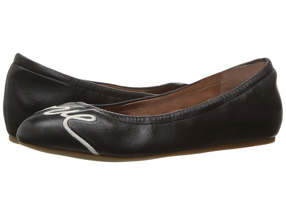 ED Ellen DeGeneres Langston (Black Leather) Flats