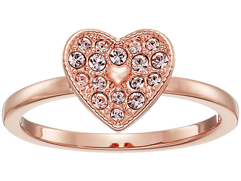 Swarovski Field Folded Heart Ring - Pink