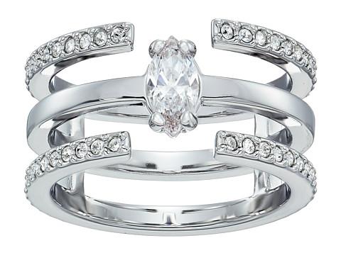 Swarovski Gray Ring - White