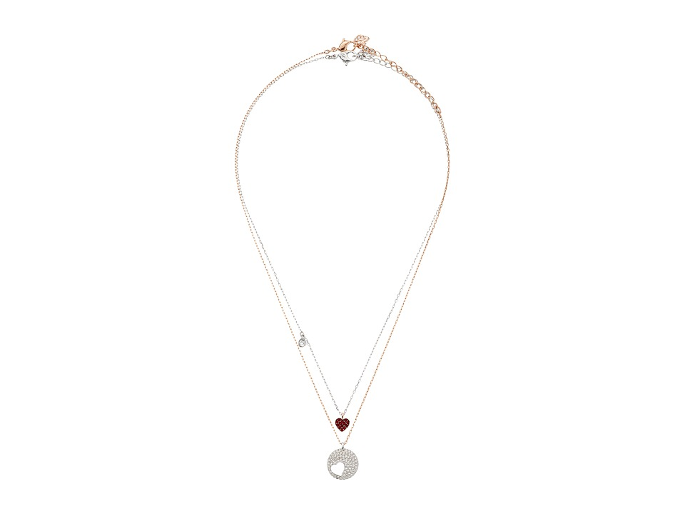 Swarovski Crystal Wishes Heart Pendant Necklace Set (Red)...
