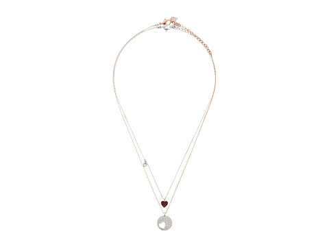 Swarovski Crystal Wishes Heart Pendant Necklace Set - Red