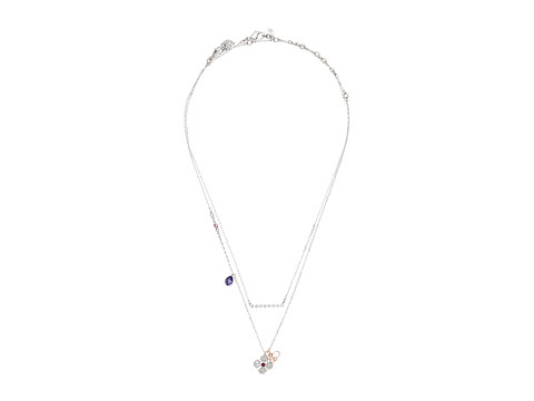 Swarovski Glowing Clover Necklace - Purple/Dark Multi