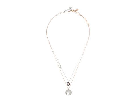 Swarovski Crystal Wishes Evil Eye Pendant Necklace Set - Teal/Blue
