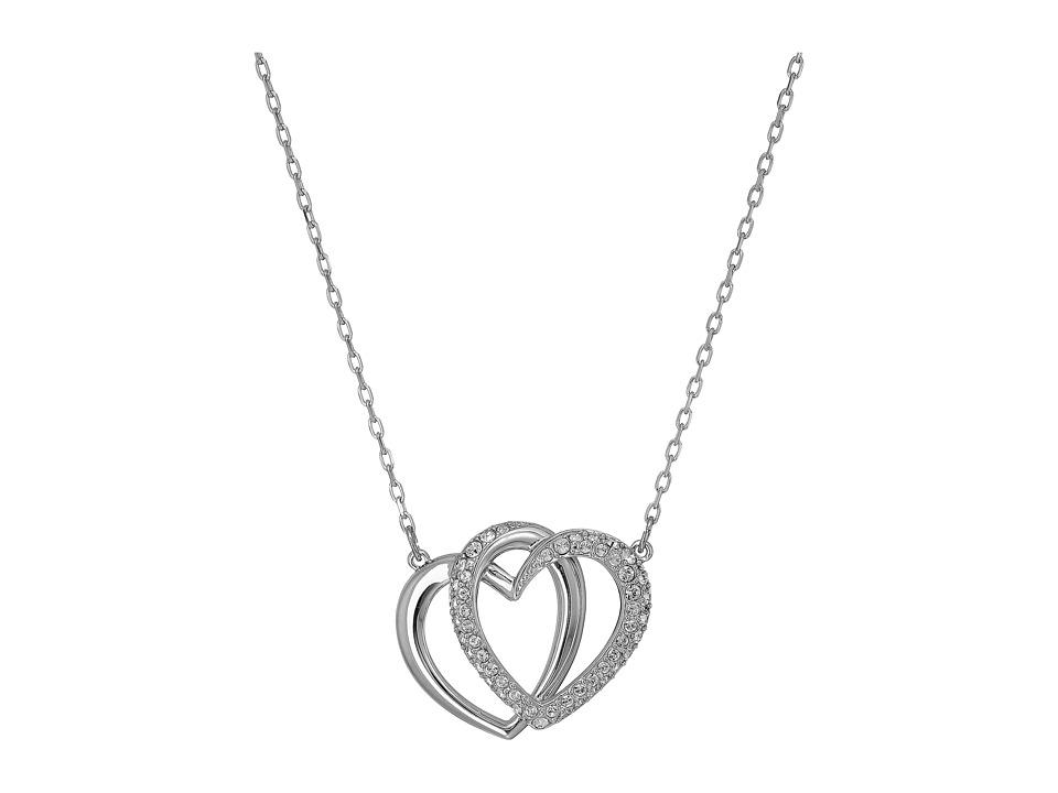 Swarovski Medium Dear Necklace (White) Necklace