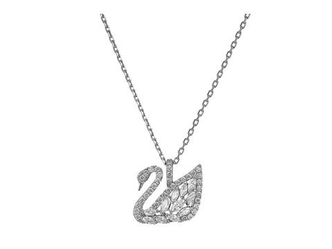 Swarovski Small Swan Lake Pendant Necklace - White