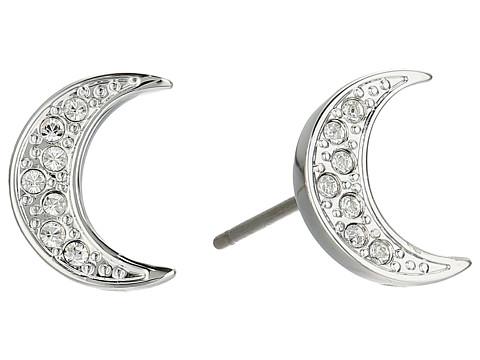 Swarovski Crystal Wishes Moon Pierced Earrings - White
