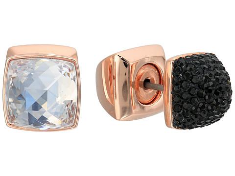 Swarovski Glance Pierced Earrings - Rose/Black/White