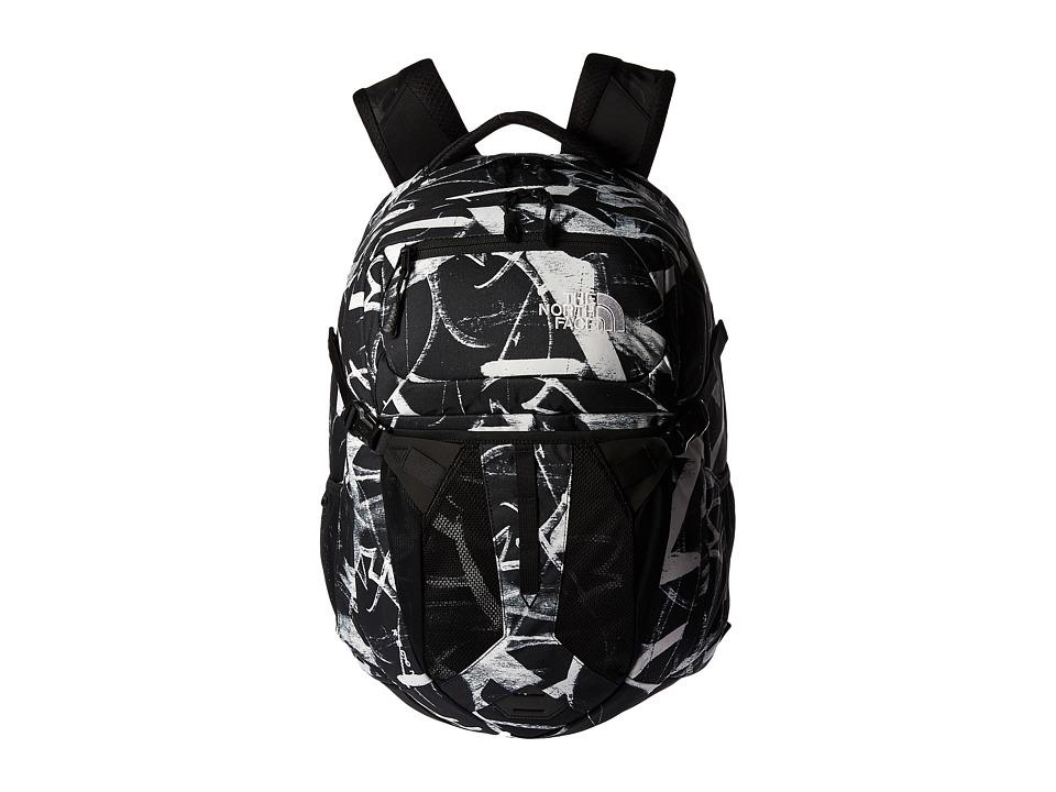North Face Recon Backpack (TNF Black Graffiti Print) Back...