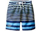 Toobydoo - Multi Stripe Blue Green Yellow Swim Shorts (Infant/Toddler/Little Kids/Big Kids)