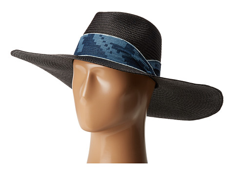 rag & bone Wide Brim Panama Hat - Black Etch