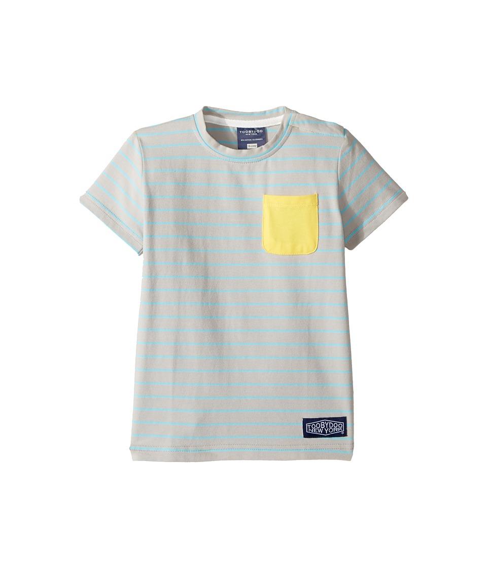 Toobydoo - Aqua Stripe Pocket T