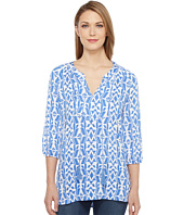Tribal - Printed Rayon Long Sleeve Tunic Top