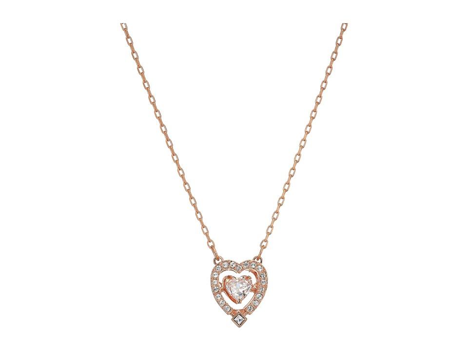 Swarovski Sparkling Necklace Heart (Rose/White) Necklace