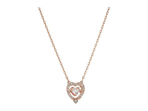 Swarovski Sparkling Necklace Heart - Rose/White