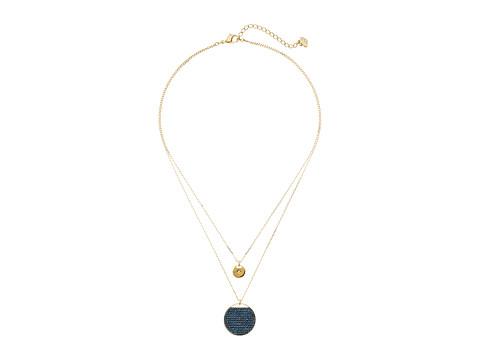 Swarovski Ginger Pendant Necklace - Blue/Teal