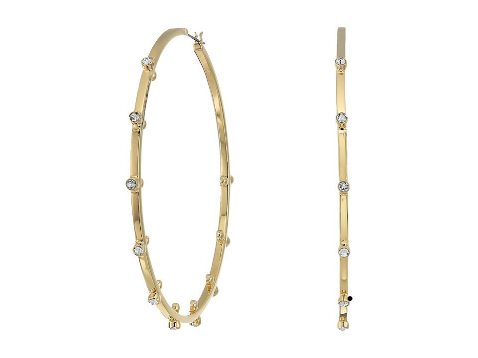 Swarovski - Genna Pierced Earrings (Gold/White) Earring