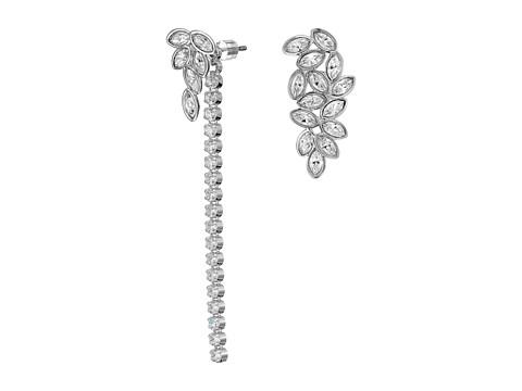 Swarovski Garden Pierced Earrings with Jacket - White