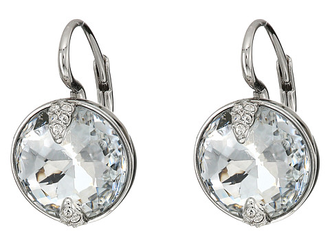 Swarovski Globe Pierced Earrings - White