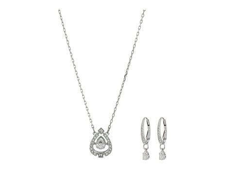 Swarovski Small Sparkling Pierced Earrings - White