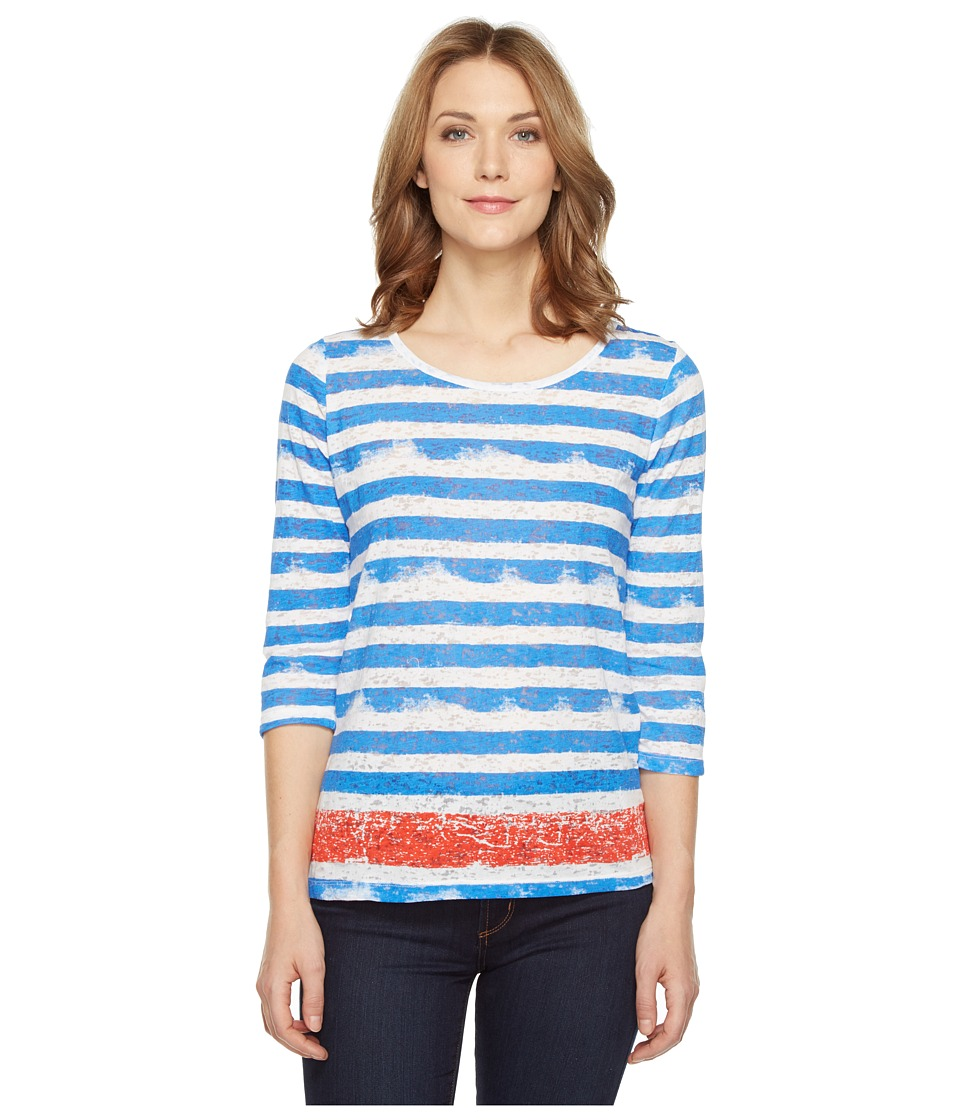Tribal - Burnout 3/4 Sleeve Combo Stripe Top