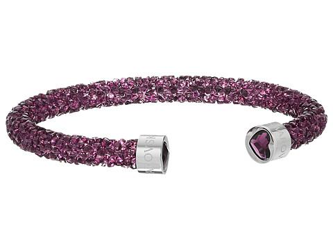 Swarovski Crystaldust Heart Cuff Bracelet - Purple