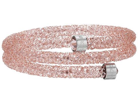 Swarovski Crystaldust Double Bangle Bracelet - Light Pink