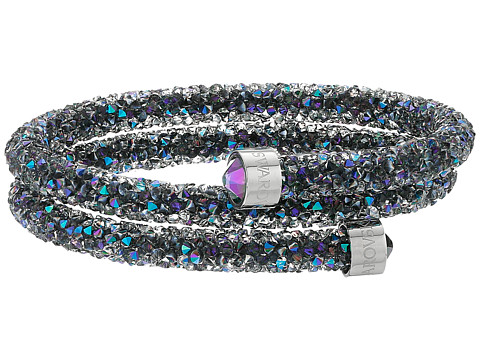 Swarovski Crystaldust Double Bangle Bracelet - Multi Purple