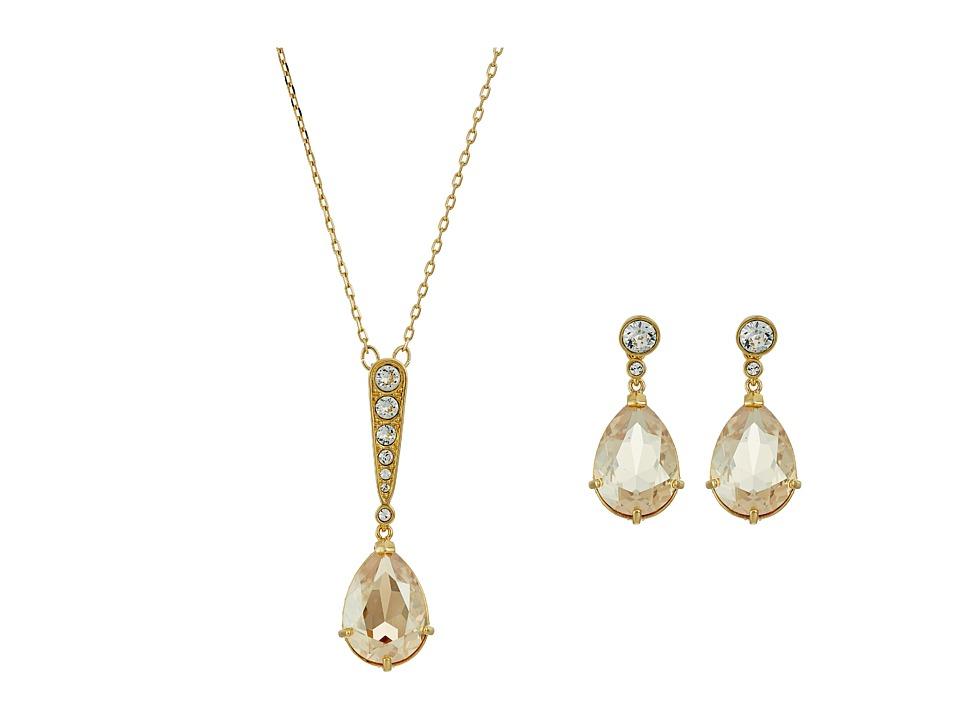 Swarovski Vintage Set (Gold/Brown) Jewelry Sets