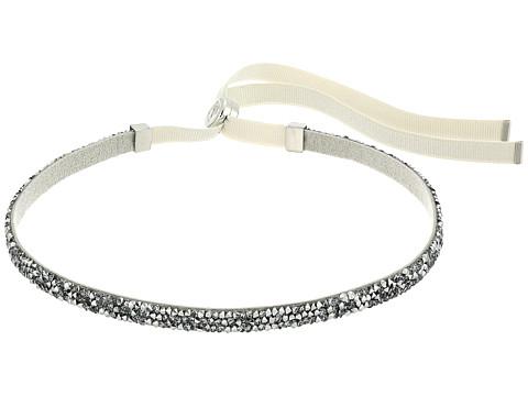 Swarovski Crystaldust Necklace Choker - Gray