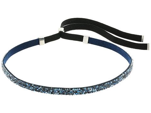 Swarovski Crystaldust Necklace Choker - Blue/White