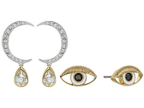 Swarovski Gipsy Pierced Earrings Set - White/Light Multi