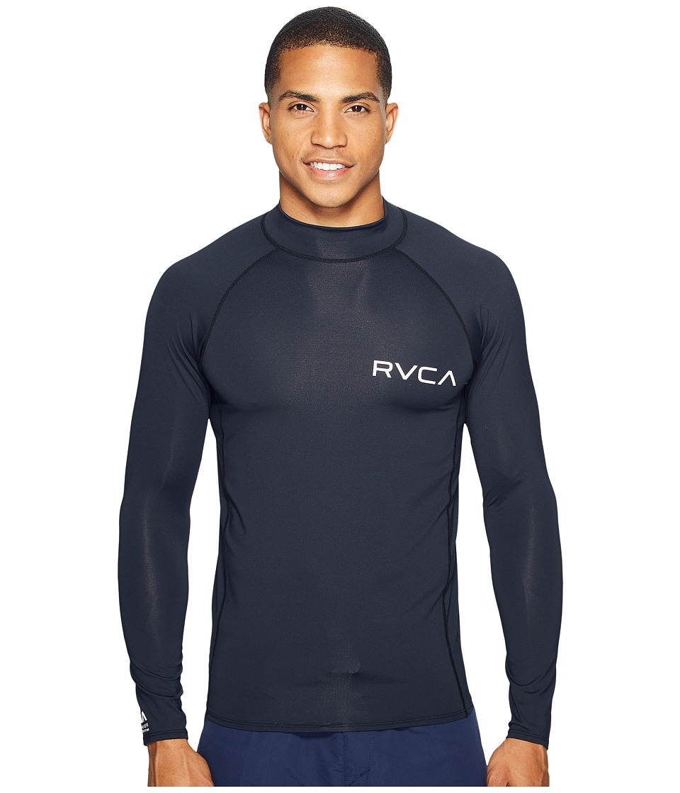 RVCA Solid Long Sleeve Rashguard (Black) Men