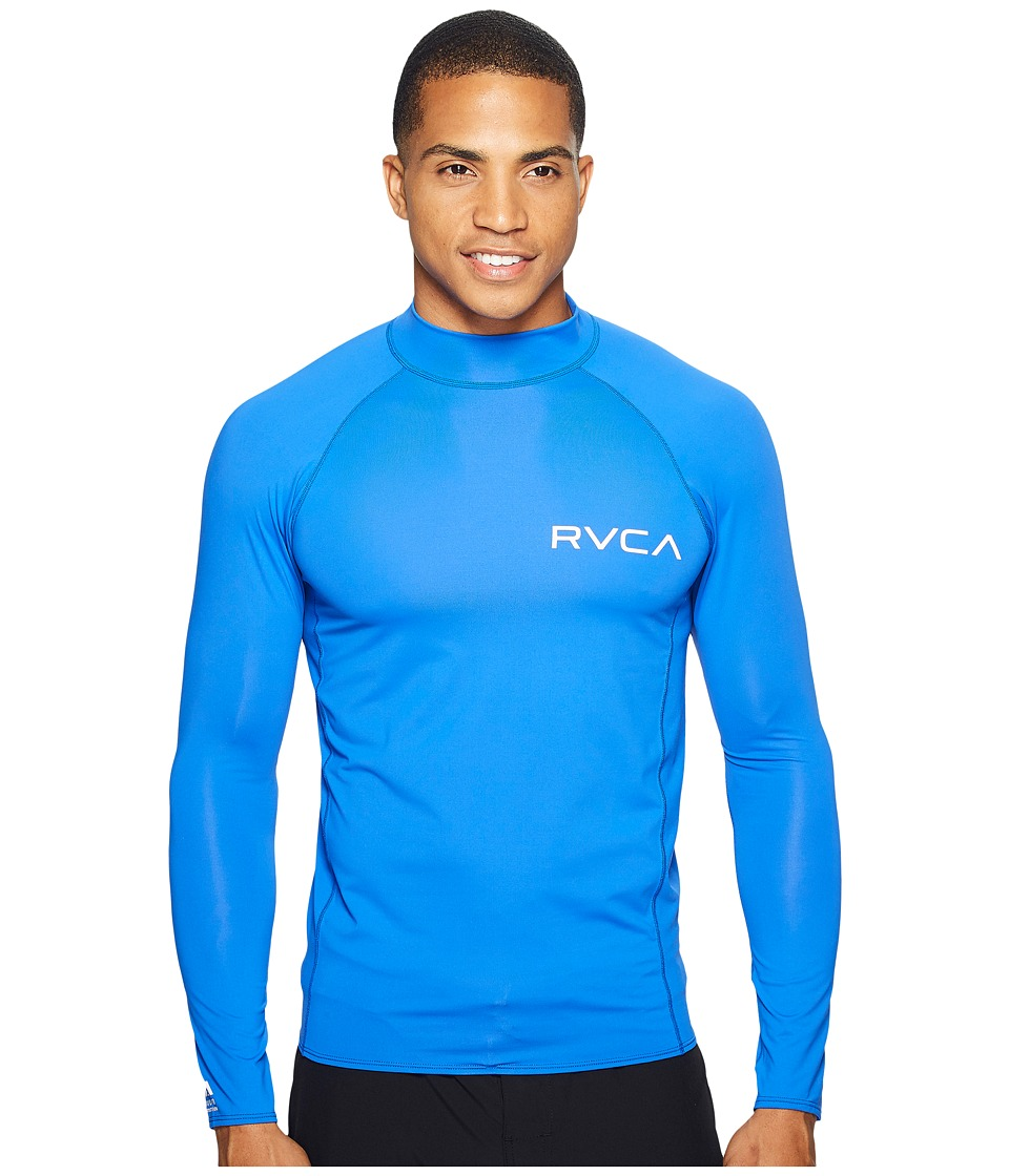 RVCA Solid Long Sleeve Rashguard (Surf) Men