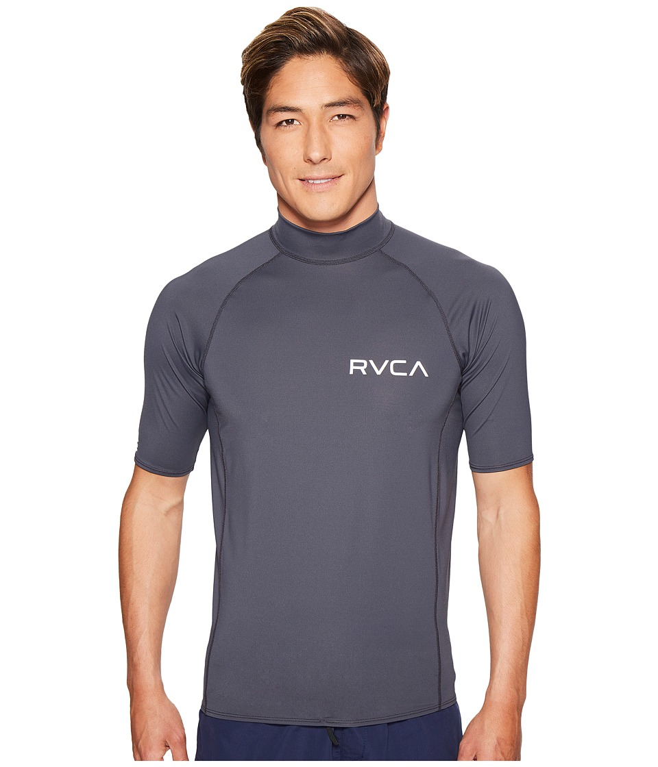 RVCA Solid Short Sleeve Rashguard (Greyskull) Men
