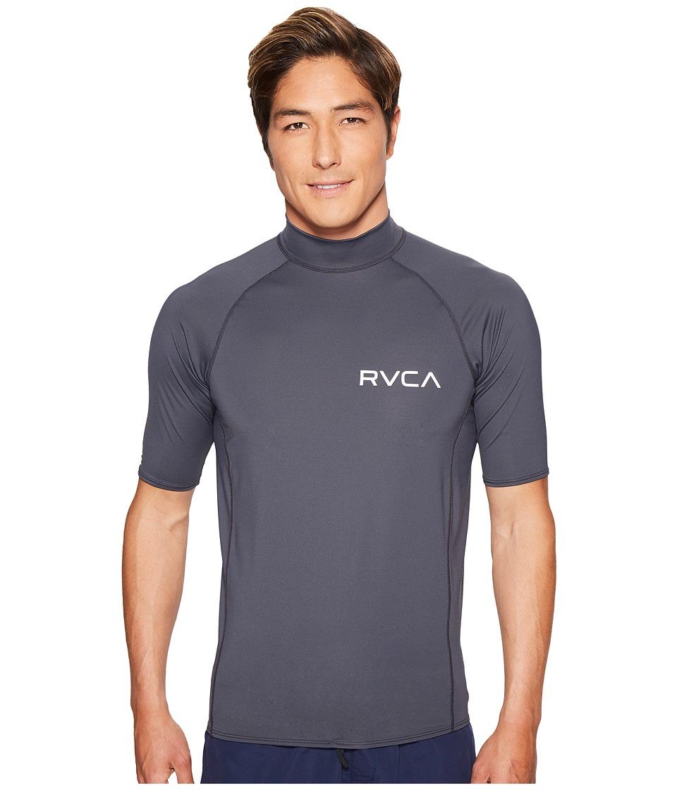 RVCA Solid Short Sleeve Rashguard (Greyskull) Men