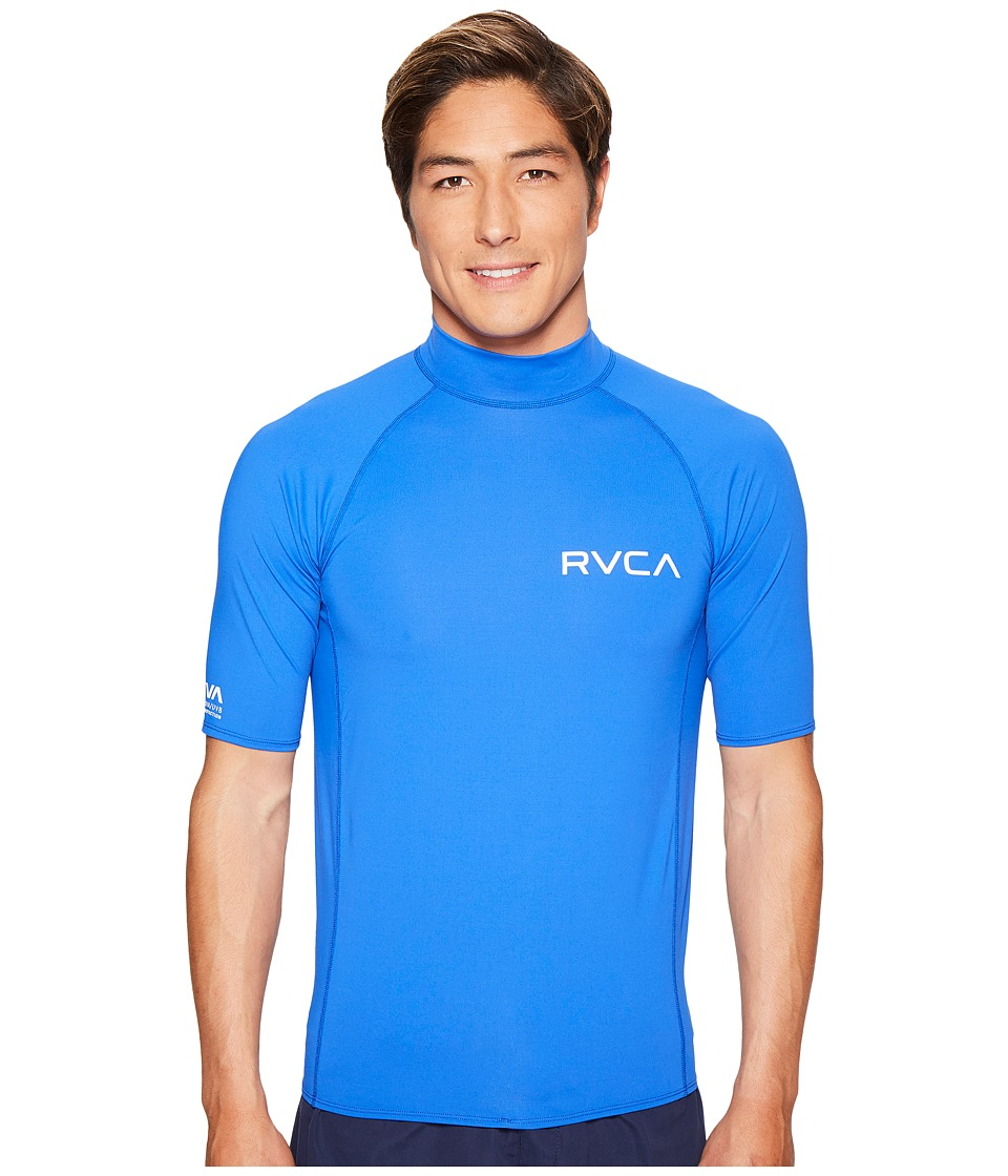 RVCA Solid Short Sleeve Rashguard (Surf) Men
