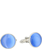 Cufflinks Inc. - Silver and Blue Catseye Cufflinks