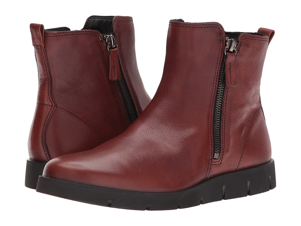 ECCO Bella Zip Boot (Congnac Cow Leather) Women